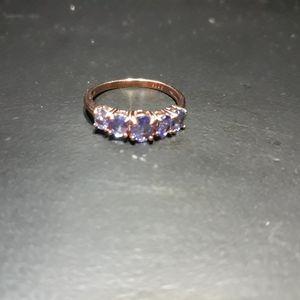 Natural Tanzanite 5 Stone Ring